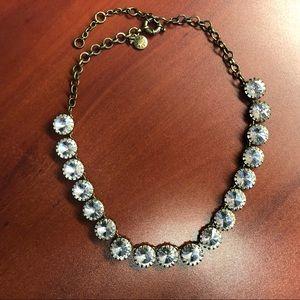 Jcrew rhinestone bronze gem necklace